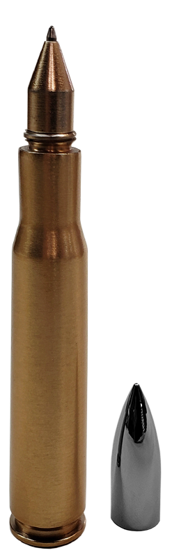 American Eagle Bullets | 50 Caliber Solid Brass Bullet Casing Ink Pen